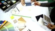 Work at design studio.