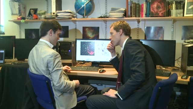 Work by scientists in Hertfordshire attracts interest of NASA Dr Philip Lucas interview with reporter in shot SOT