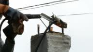Arbeiter Schweißen Stahl