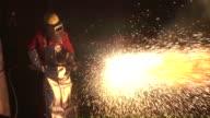 MS Worker doing welding in  praduction hall / Bous, Saarland, Germany