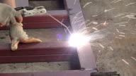 Arbeiter Schweißen Metall