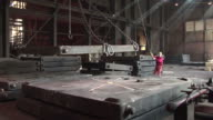 WS Worker working at praduction hall / Bous, Saarland, Germany