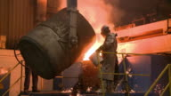 WS Worker working in foundry / Siegen, North-Rhine Westphalia, Germany