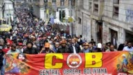 Workers and students besieged the presidential palace and its surroundings in La Paz in the 10th day of strikes and demonstrations that have been...