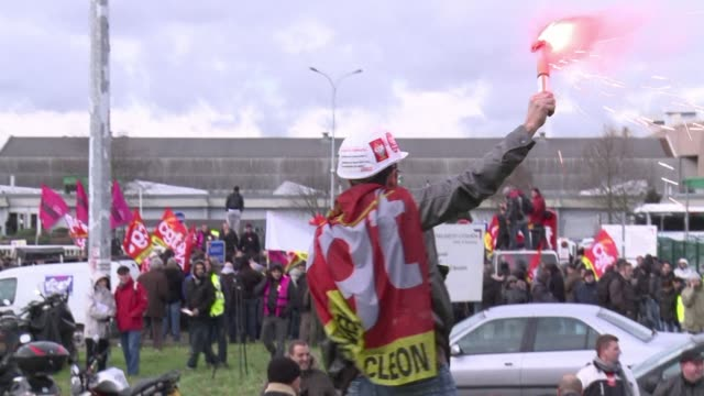 Workers at French auto group PSA Peugeot Citroen have been striking over a planned shutdown of Peugeots Aulnay sous Bois factory and restructuring...