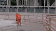 Workers repair Maracana stadium in preparation for the 2014 World Cup