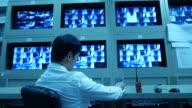 MAN Working at CCTV system