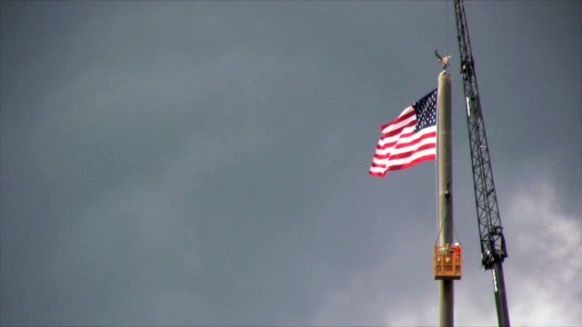 Arbeiten mit USA-Flagge