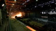 Der Stahl rolling Fabrik innen, Zeitraffer.
