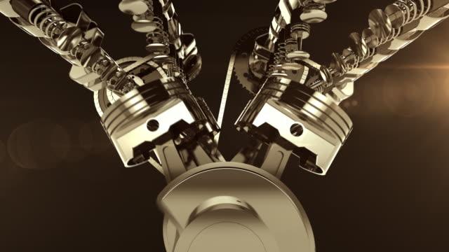 V8 Maschine, 3D-Animation Arbeiten