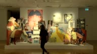 Works by the 2017 Turner Prize shortlisted finalists are displayed at the Ferens Art Gallery in Hull in eastern England