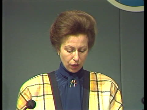 Princess Anne and John Moore speeches ENGLAND London Westminster Queen Elizabeth Conference Centre Princess Anne RL from car amp shakes Lord Mayor...