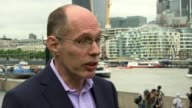 Athletes hit by vomiting bug Tower Brigde PAN The Tower Hotel City Hall Niels De Vos setup shots and interview SOT Tower Bridge Padraig McClusky from...