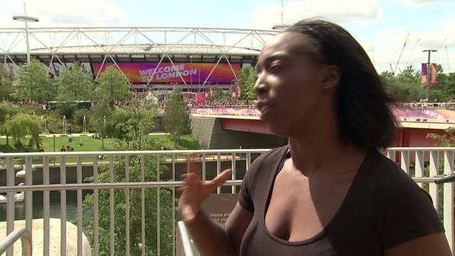 Justin Gatlin jeered by crowds after winning 100m final ENGLAND London EXT Jeanette Kwakye interview SOT Reporter to camera Vox pops