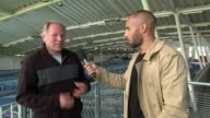 Preparations ENGLAND London Lea Valley EXT James Ellington to camera Track Men chatting Woman towards on track Ray Gibbins interview SOT CUTAWAY...