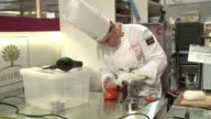 World chefs battled it out in the World Pastry Cup in Lyon Monday creating ice sugar and chocolate sculptures as part of the International Gastronomy...