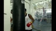 David Haye beats Enzo Maccarinelli TX **Haye interview overlaid SOT** David Haye training as an amateur boxer