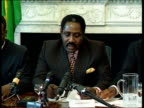 The Jamaican team ITN ENGLAND London Captain Horace Burrell pkf Lists sponsors signed up by Jamaica Pkf Unnamed man pkf Lists other sponsors Burrell...