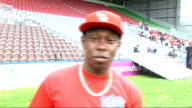 Dizzee Rascal and James Corden record 'Shout For England' World Cup song ENGLAND London EXT Dizzee Rascal interview SOT On performing on Britain's...