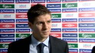 England v Kazakhstan Postmatch interviews Steven Gerrard postmatch interview SOT Good to win and score five goals but we were still a bit edgy / I...