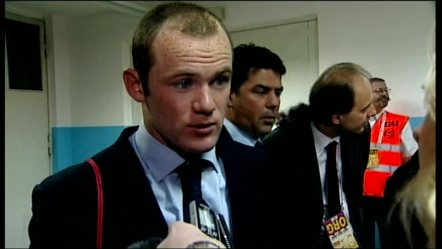 Croatia v England postmatch interviews Rooney interview SOT Nice to score but was more important that team won / Didn't feel pressure to score as his...