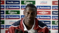 England press conference Emile Heskey press conference SOT With two games we played lads are happy to be back again and raring to go / Strange coming...
