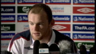 England press conference Wayne Rooney press conference SOT When you play well all the fans are happy and all the players are happy saw on TV the...