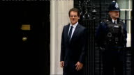 Fabio Capello footballers and Sepp Blatter arrive at Number 10 ENGLAND London Downing Street EXT Fabio Capello arriving in car and along into Number...
