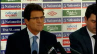 Fabio Capello names initial England squad Q re Paul Scholes coming out of Intl retirement Fabio Capello SOT it was up to him / he said no he...