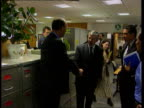 Hooliganism ITN ENGLAND London National Criminal Intelligence Service Home Sec Jack Straw MP meeting British and French police officers responsible...