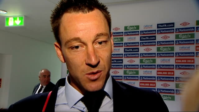 England v Croatia postmatch interviews John Terry interview in tunnel SOT discusses victory over Croatia CUTAWAY of David Beckham talking to press...