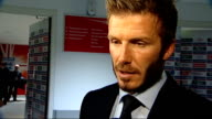 England v Belarus David Beckham interview ENGLAND London Wembley Stadium INT David Beckham interview SOT England have been exceptional through this...