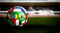 World Cup Soccer Ball in the Stadium