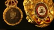 Anthony Joshua beats Wladimir Klitschko Anthony Joshua interview ENGLAND London INT Close shots of IBO WBA IBF championship boxing belts / Anthony...