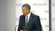 World leaders attend COP21 Shows interior shots Barack Obama at podium for speech talks about the aims of the Paris Summit plans for the future on...