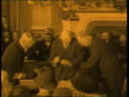 World leaders sign the Versailles Treaty at the end of World War I