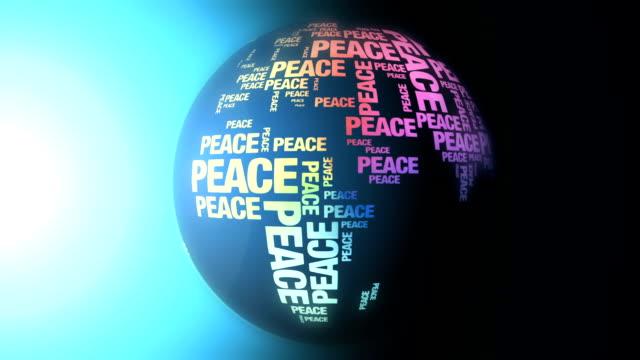 Welt aus Frieden Worte