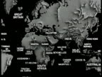 MAP World map British Commonwealth Nations ZI India
