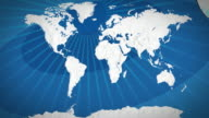 World map - focus on Africa