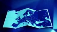 Weltkarte der sich auf der blauen Zone.  Three-in-one.