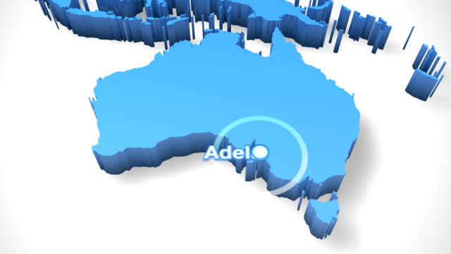 3D World Map Zoom Australia 2