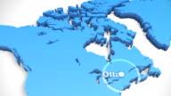 3 D Welt Karte zoomen Kanada