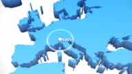 3 D Welt Karte zoomen Europa 2