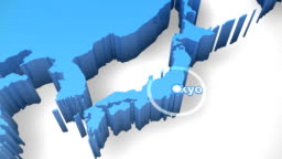D World Map Zoom Japan Stock Footage Video Getty Images - Japan map 3d