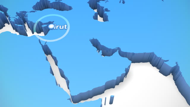 3D World Map Zoom Middle East