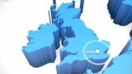 3 D Welt Karte zoomen UK 1