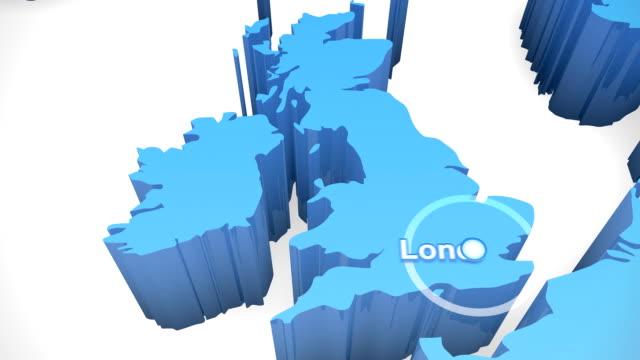 3 D mappa del mondo Zoom Regno Unito 1