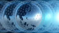 Wereld netwerk achtergrond