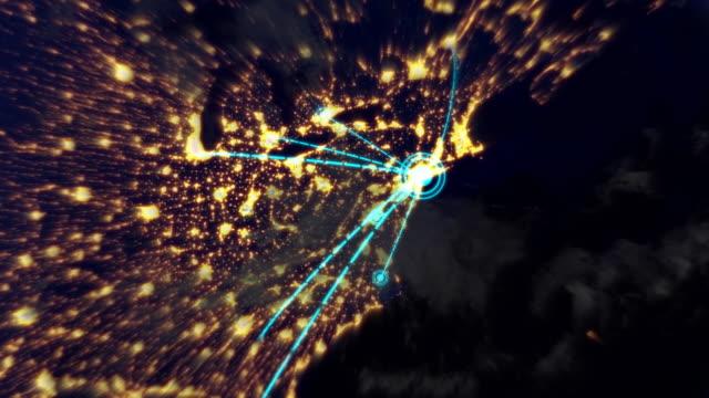 Welt-Netzwerk ist das von New York. Endlos wiederholbar.