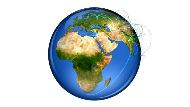 World Netzwerk loop mit luma matte